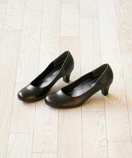 送料無料選べる3ヒール!リクルートオフィスフォーマルパンプス痛くない疲れない黒ブラック太ヒールレディース靴リボン上品知的かわいい可愛らしい綺麗やわらかいシンプルビジネスオフィスフォーマル通勤仕事法事
