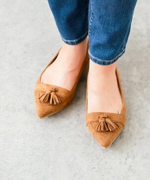 送料無料 イイ女ポインテッド 1cmヒール ローヒール タッセルモチーフ パンプス 痛くない ローヒール ぺたんこ 黒 歩きやすい 脱げない インソール かかと 大きいサイズ 靴下 結婚式 シルバー 小さいサイズ 幅広