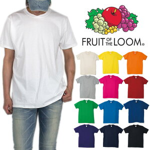 FRUIT OF THE LOOM Tシャツ 半袖Tシャツ メンズ レディース フルーツオブザルーム Tシャツ 大きいサイズ ヒップホップ ダンス ストリート ブルー 青 ピンク イエロー 無地 hiphop イベント 友達 お揃い ペア ビッグサイズ 父の日 ギフト