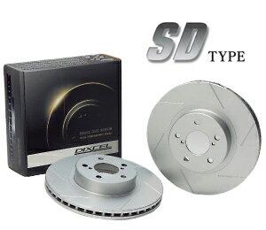 DIXCEL BRAKE DISC ROTOR SD Type フロント用 ダイハツ マックス ターボ車 03/08〜 L950S/L960S用 (SD3818017S)【ブレーキローター】ディクセル ブレーキディスクローター SDタイプ