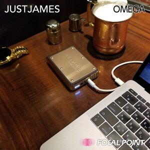 【JUSTJAMES/ジャストジェームス】OMEGA(オメガ)大容量モバイルバッテリー10400mAh【3台同時充電MicroUSBUSB-AUSB-C搭載USBケーブル付属USB-CPDポートJJS-BY-000003】