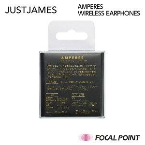 【JUSTJAMES/ジャストジェームス】AMPERESWIRELESSEARPHONES(アンペアーズワイヤレスイヤホン)超軽量約10g【3種類のサイズから選んで付け替えられる小さめサイズのイヤーピース】【Bluetoothイヤホンワイヤレスイヤホン女性用布巻き】