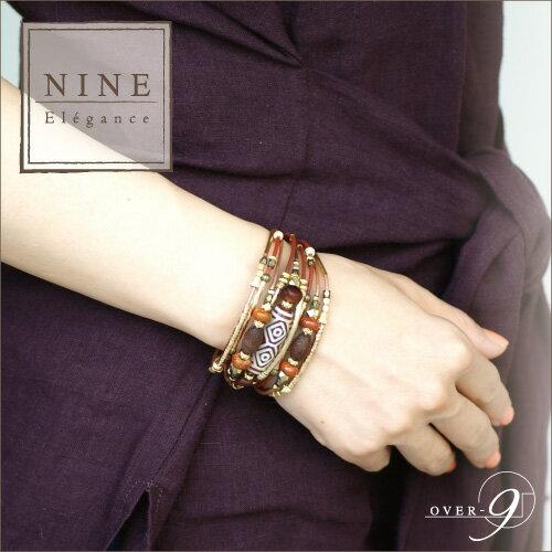 NINE-Elegance- 宝瓶白天珠×翡翠×ローズクォーツ 〜幸せを貯め増やすブレスレット〜 NINE-Elegance-