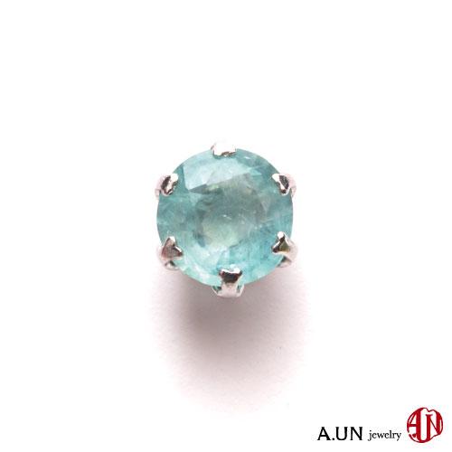 【A.UN jewelry】 グランディディエライト ピアス 《0.5ct》 Pt900 【鑑別書付き】 プラチナ スタッドピアス 一粒ピアス