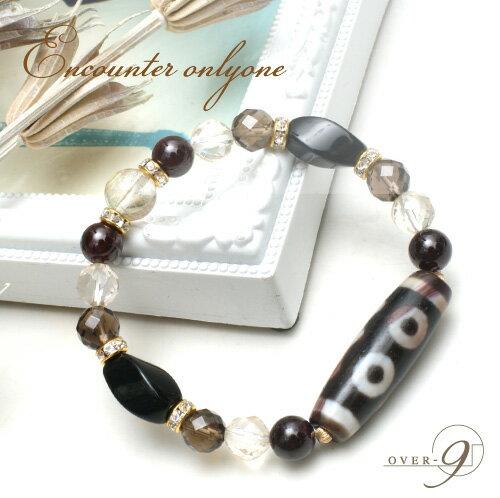 〜未来を見据える〜The third eye bracelet ◆紅朱砂三眼天珠ブレスレット◆