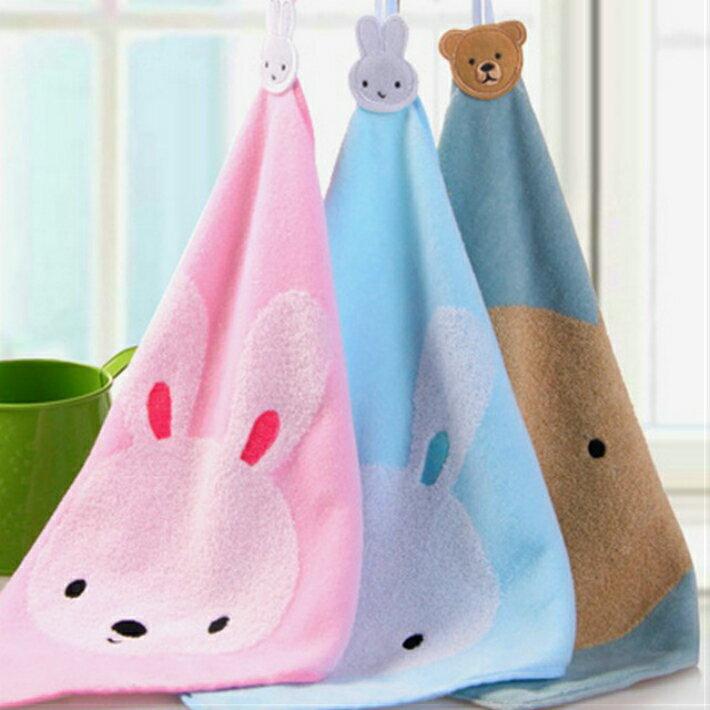 とってもかわいいクマのタオル、3色セット