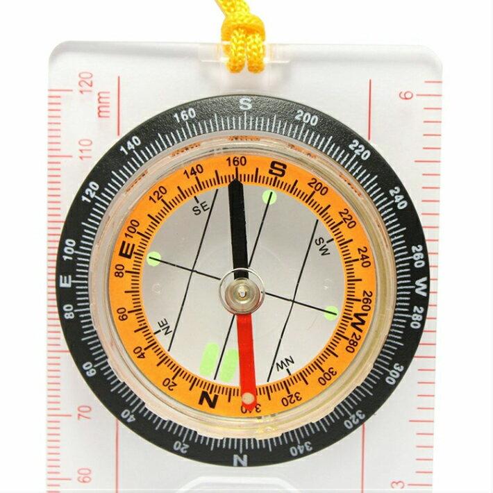 マップ コンパス ルーペ付 地図用 方位磁石 ストラップ 登山 ルーペ ハイキング オリエンテーション