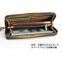 91d01ec510bd メンズウォレットメンズ財布長財布ラウンドジップスタンダードウォレットロング財布本革レザーオイルド