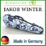 バイオリンケース JAKOB WINTER【日本正規品】 ドイツ製 Retro/モノトーン花柄 4/4サイズ用