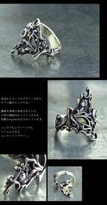 (オーダー品)(蝶リング指輪)(FUNKOUTS)(Ageha)仮面モチーフのアゲハ蝶ゴシック調クールシルバー925リング指輪蝶々バタフライ天然石ナチュラルストーンパワーストーン(FAR-081)