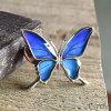 (蝶ブローチ)(オーダー品)(Psyche)本物の蝶の羽シャープな羽の蝶シルバー925ピンブローチ蝶々バタフライタミラスムラサキシジミ