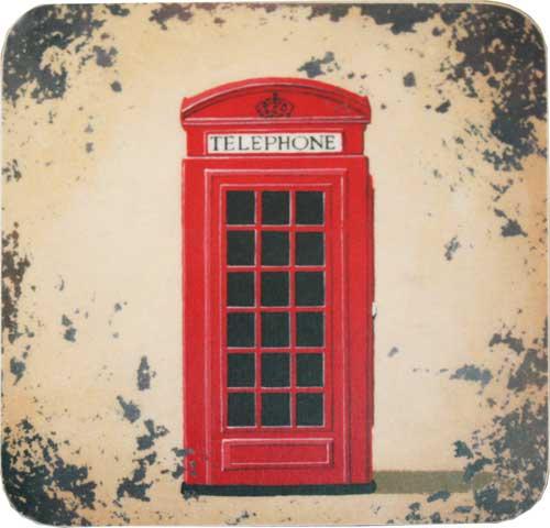 配膳用品・キッチンファブリック, コースター Telephone Box CWCS29