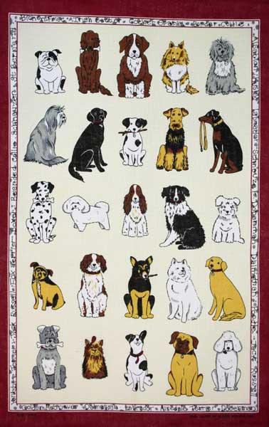 配膳用品・キッチンファブリック, キッチンクロス ULSTER WEAVERS 100 Dogs Galore UWTT017