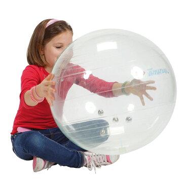 【Wアクションポンププレゼント】ギムニク(Gymnic) ジングルボール Jinglin' Ball 透明 鈴入り イタリア レードラプラスチック社製 バランスボール 送料無料