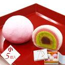 千代重 5個入<小>(五層)冷凍発送-常温保管 紅白饅頭(まんじゅう)上用まんじゅう