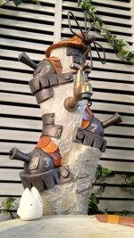 立水栓水栓柱立水栓セット立水栓水栓柱【こびとの砦(とりで)立水栓柱&シンクセット】庭水道外水道水受けガーデンパン