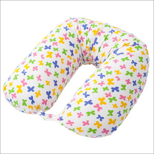 抱き枕|フジキHannaHula(ハンナフラ)ちょうちょ柄マルチロングクッション(授乳クッションにも使えるマルチクッション)【日本製】【だきまくら/抱枕/抱きまくら】【母の日】