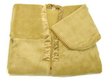 毛布 昭和レトロな着られる毛布 昔ながらのポカポカかい巻き【あったか ふわふわ毛布】