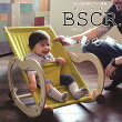 BSCR(ビスクル)子どもの成長に合わせて、バウンサー・スイングラック・ロッキングポニー・カウチの4パターンで使えるマルチチェア【4WAY】【サンデシカ】【ベビーチェア・スウィングラック・木馬・ベビーラック】