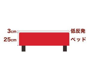 セレクトベッドボンネルコイルスプリングベッド+厚さ3cm低反発マット脚:ダークブラウン色(12cm)セミシングル90サイズ(90×195cm)レッド