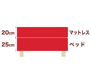 セレクトベッドダブルクッションベッド(ベッド+マットレス)高密度ボンネルコイルスプリング(ハイカウント・線の直径2.1mm)脚:木目柄(7cm)ワイドダブルサイズ(152×195cm)レッド