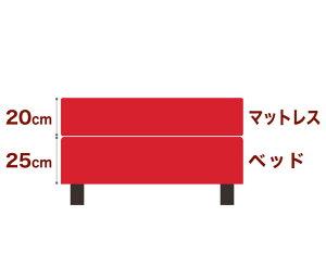 セレクトベッドダブルクッションベッド(ベッド+マットレス)ポケットコイル(線の直径2mm)脚:ダークブラウン色(18.5cm)セミシングル90サイズ(90×195cm)レッド