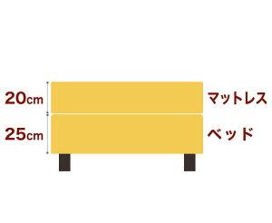 セレクトベッドダブルクッションベッド(ベッド+マットレス)高密度ボンネルコイルスプリング(ハイカウント・線の直径2.1mm)脚:ダークブラウン色(22cm)ワイドダブルサイズ(152×195cm)イエロー