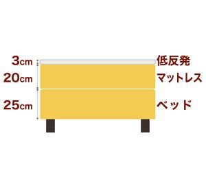 セレクトベッドダブルクッションベッド(ベッド+マットレス)ボンネルコイルスプリングベッド+厚さ3cm低反発マット脚:ダークブラウン色(18.5cm)キングサイズ(180×195cm)イエロー