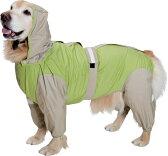 大型犬用レインコート 超はっ水・安全コート 【フレッシュグリーン×ベージュ】大型犬 レインコート