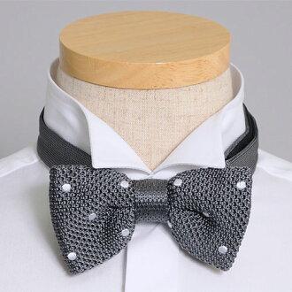 在婚禮或者派對等的休閒的領結正式風格領結!在toraddopureppisutairu! 供領結蝴蝶泰國編織物銀子點蝴蝶結紳士事情玩笑漂亮的漂亮的紅白喜事領結人男性使用的專營商店禮物OZIE