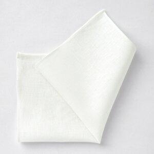 ポケット フォーマル ホワイト アイリッシュリネン