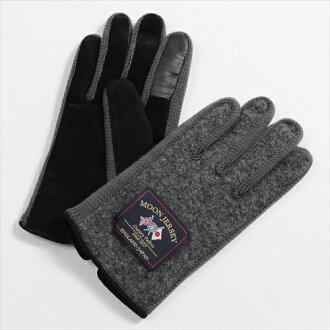 保暖手套觸控式螢幕智慧手機智能手機為灰色手套平原君羊毛豬皮革絨面革澤西針織用的日本其他男人的店是在溫暖的冬天月亮是要麼冷 OZIE