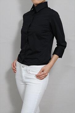ビズポロ ニット レディースシャツ レディース 高級 ワイシャツ|ポロシャツ クールビズ 七分袖 ドレスシャツ 黒 おしゃれ ニットシャツ yシャツ ビジネスシャツ 日本製 カッターシャツ ブラウス オフィス 大きいサイズ ブラック ワイドカラー シャツ ビジネス 送料無料