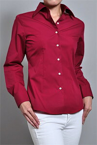 【形態安定シャツ/形状記憶/珍しいダークトーンのカラー無地レディースシャツ!制服やユニフォ...