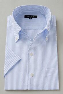 偉大的短袖襯衫短袖 Y 襯衫短袖襯衫 CoolMax 隊長類型襯衫義大利領襯衫緊身襯衫顏色藍藍尺寸男裝襯衫苗條