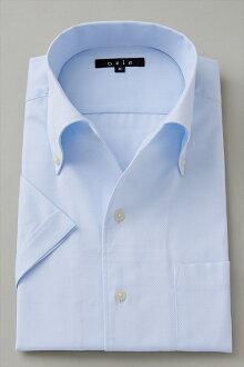 偉大的短袖襯衫短袖 Y 襯衫短袖襯衫 CoolMax 義大利衣領襯衫連衣裙緊身襯衫顏色藍色大小男裝襯衫苗條