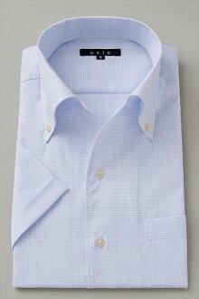 男式短袖襯衫短袖 Y 襯衫短袖襯衫 CoolMax 義大利衣領襯衫連衣裙緊身襯衫顏色藍色大尺寸超薄襯衫
