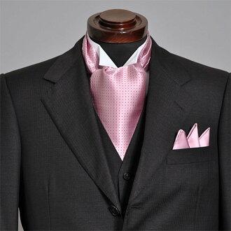 領巾式領帶主任安排粉紅點花紋領巾式領帶結束一方動畫有,供領巾式領帶主任安排人男性使用的專營商店禮物OZIE