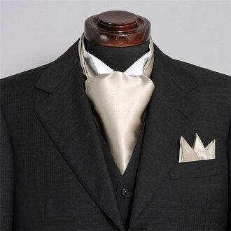 有領巾式領帶主任安排絲綢100%素色日本製造國產黄金口袋主任的婚禮領巾式領帶結束一方動畫有,供領巾式領帶主任安排人男性使用的專營商店禮物OZIE