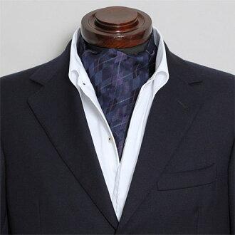 有領巾式領帶絲綢100%菱形紫紫色婚禮領巾式領帶結束一方動畫男子的男性用的專營商店禮物OZIE