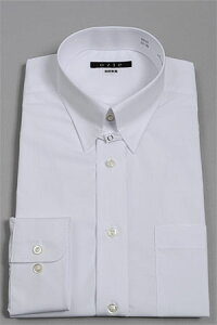 ワイシャツ レギュラー フィット ホワイト おしゃれ オフィス ビジネス カッターシャツ ブロード