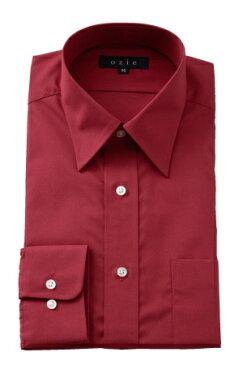 形態安定 形状記憶 レギュラーカラーシャツ ドレスシャツ 長袖ワイシャツ   シャツ メンズ ワイシャツ ビジネス 赤 ノーアイロン 長袖シャツ おしゃれ 日本製 ビジネスシャツ カッターシャツ ボタンダウン Yシャツ 大きいサイズ しわになりにくい 4L シワになりにくい