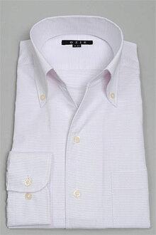 沒有義大利衣領襯衫禮服襯衫長袖襯衫緊身 CoolMax biz 定為隊長,襯衫紐扣顏色粉紅色苗條纖細襯衫商務襯衫第一按鈕 OZIE 襯衫義大利領襯衫