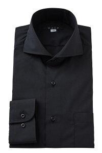 形態安定 形状記憶 ホリゾンタルカラーシャツ ドレスシャツ 長袖ワイシャツ | ワイシャツ メンズ シャツ 黒 おしゃれ ビジネス 日本製 カッターシャツ ノーアイロン Yシャツ 大きいサイズ ビジネスシャツ しわになりにくい 4L 長袖 カッタウェイ 紳士 ビジネスワイシャツ