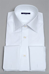 カフスボタン フォーマルシャツ ダブルカフスシャツ ワイシャツ ホワイト 冠婚葬祭 おしゃれ