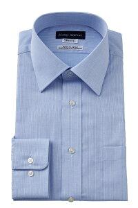 形態安定 ドレスシャツ 長袖ワイシャツ レギュラーカラー サックス ブルー 青 ワイシャツ 無地 日本製 ノーアイロン メンズ 男性用 おしゃれ Yシャツ 専門店 オフィス OZIE shirt ギフト