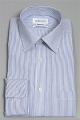 ★形態安定・日本製★見栄え防しわ性よし!使いやすい小ぶりなワイドカラーシャツ日本製の上質...
