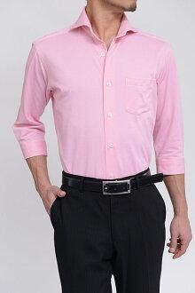 Biz 馬球針織襯衫 7 長袖襯衫 polo 衫面料 7 袖緊身苗條的 CoolMax 提供臥式混色商務襯衫粉紅色襯衫 7 套專業店辦公室 Y 襯衫 coolmax 商務 polo 衫 OZIE