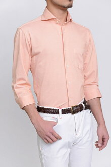 Biz 馬球針織的襯衫襯衫 7 長袖襯衫 polo 衫面料 7 袖緊身苗條的 CoolMax 提供臥式混色商務襯衫橙色襯衫 7 套專業店辦公室 Y 襯衫 coolmax 商務 polo 衫 OZIE