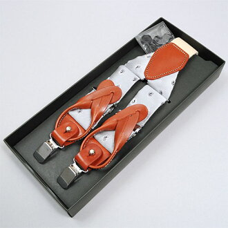 日本製造的真絲吊帶吊帶 2 方式 100 %y-35 毫米寬度 3.5 釐米寬銀佩斯利螺旋花紋正式休閒帶掛褲子牛皮皮革用吊帶 OZIE 黃銅